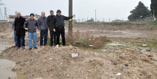 Mahalleliden hazır beton tesisine tepki