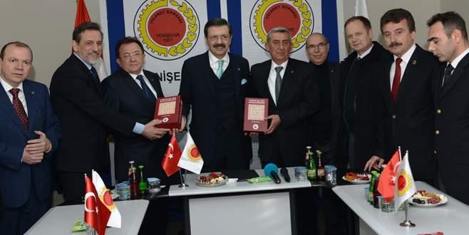 TOBB yönetiminden İznik ve Yenişehir'e ziyaret