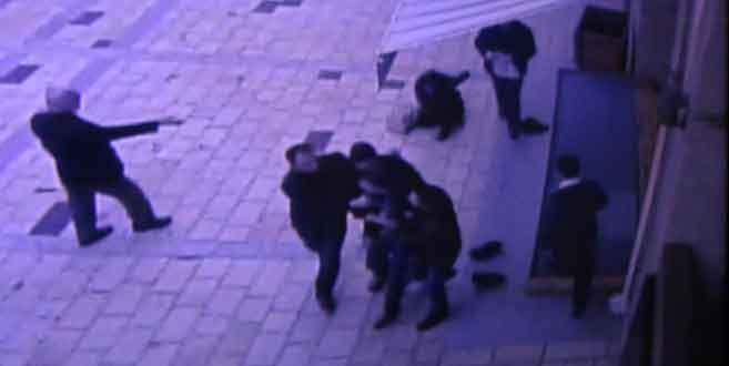 Cami bahçesinde kadına şiddet!