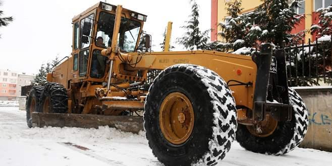 Nilüfer'de karla mücadele alarmı