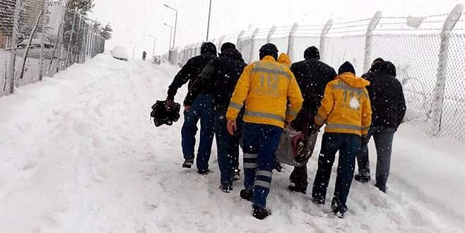 Kar çilesi hastaları da vurdu