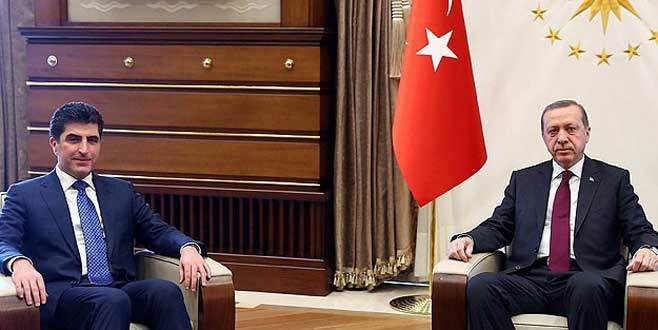 Cumhurbaşkanı Erdoğan Barzani'yi kabul etti