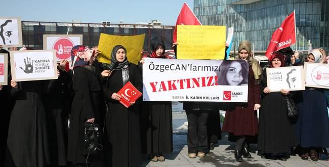 SP Kadın Kolları kadına şiddeti kınadı