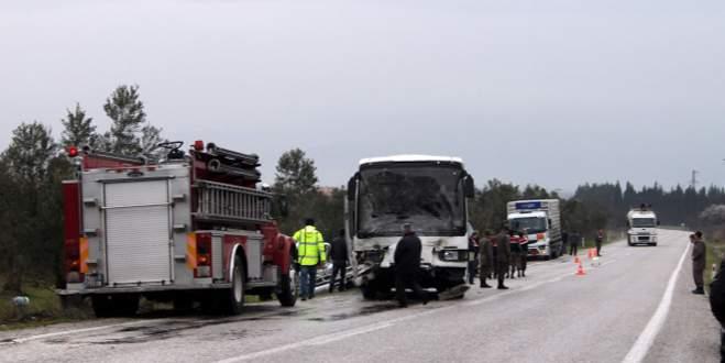 Askeri araç kaza yaptı: 1 ölü