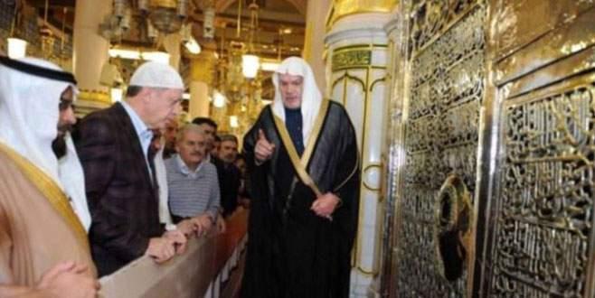 Erdoğan, Hazreti Peygamber'in kabri başında dua etti