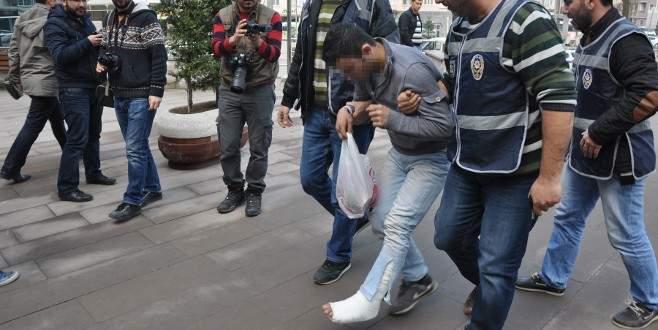 Bankamatiği soymaya çalışırken ayağını kırdı!