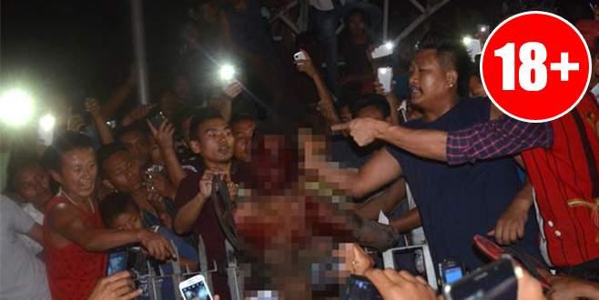 Hapishaneyi basıp tecavüzcüyü yaktılar!
