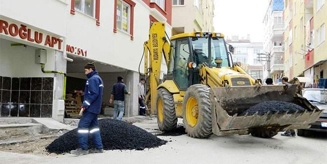 Mudanya Belediyesi asfalt sezonunu erken açtı