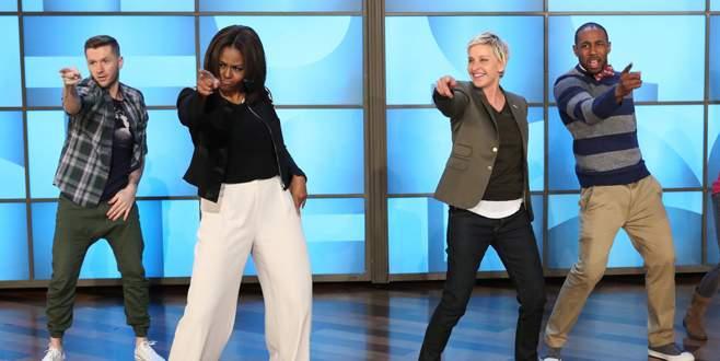 First Lady, obeziteye karşı dans etti