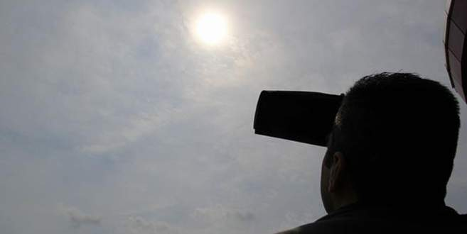 Bursa'dan güneş tutulması böyle görüntülendi