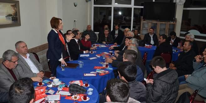 Çohan Demirtaş'ta üyelerle buluştu