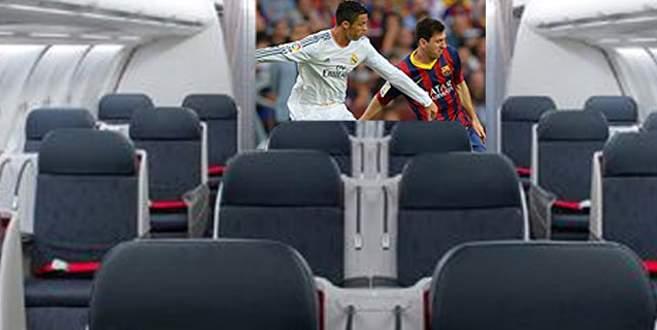 Uçakta derbi keyfi