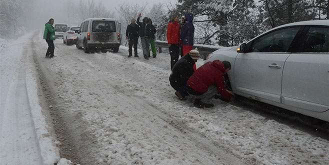 Sürücüler mart karına hazırlıksız yakalandı