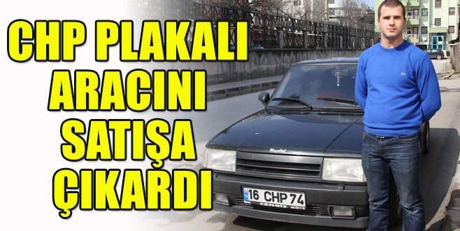 22 yaşındaki CHP plakalı aracını satışa çıkardı