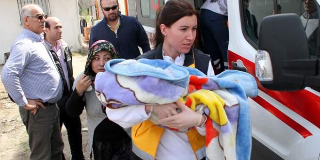 Bursa'da anne ile bebeği kabusu yaşadı