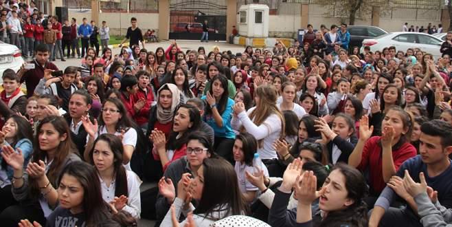 Bursa'daki o okulda eylem