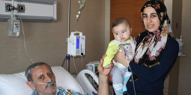 Fırat'ın karaciğeri 7 aylık bebek ve bir dedeye can oldu