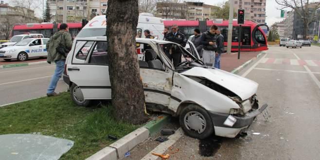 Bursa'da hastane dönüşü feci kaza