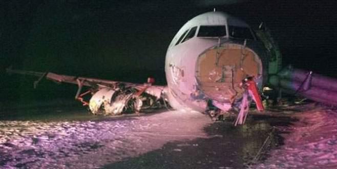 Uçağın iniş takımları açılmadı!