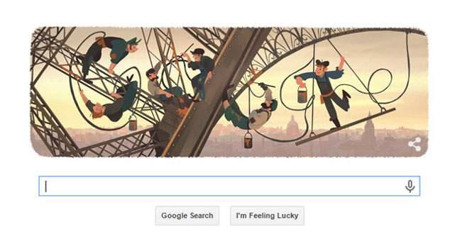 Google'dan Eyfel Kulesi'ne özel doodle
