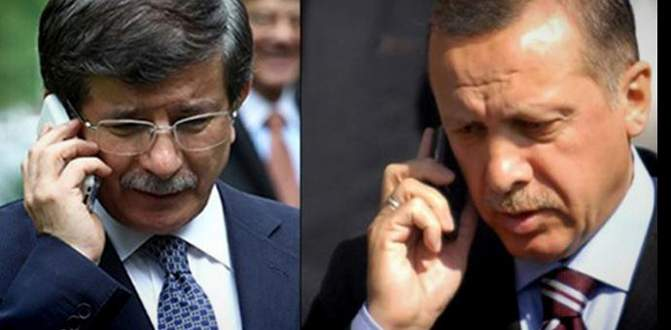 Davutoğlu'ndan Erdoğan'a telefon!