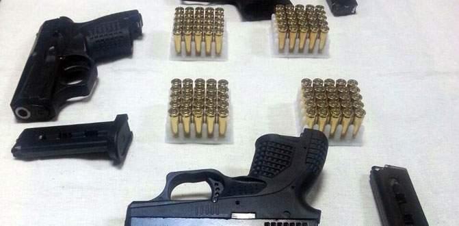 Güvenlik görevlisinde 3 'Glock' tabanca