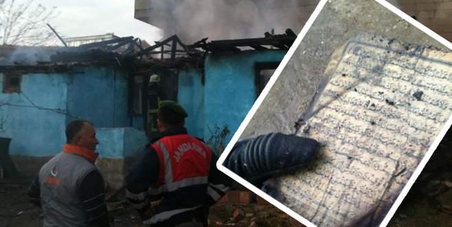 Evi küle çeviren yangında sadece 'O' yanmadı