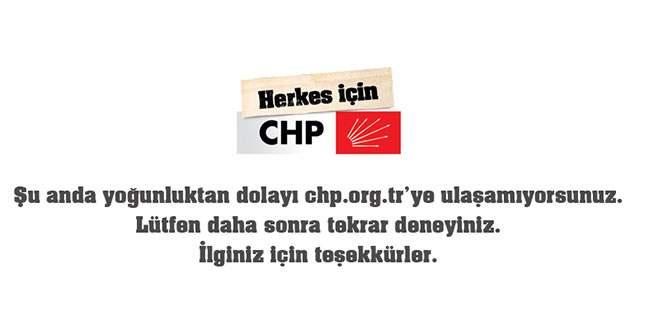 CHP'nin sitesi yoğunluğu kaldıramadı