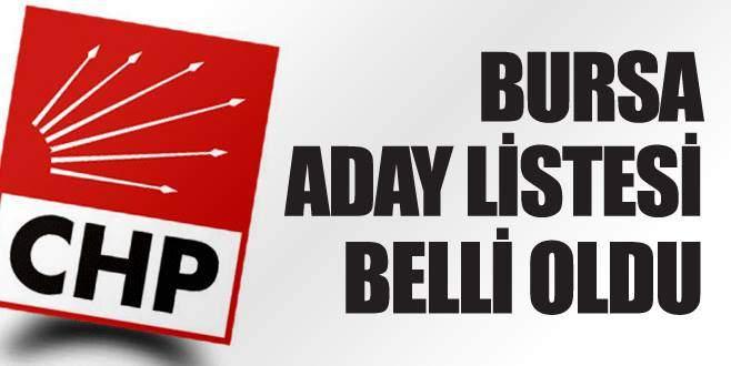 CHP'nin Bursa aday listesi belli oldu
