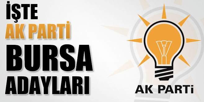 İşte AK Parti Bursa aday listesi