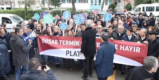 Bursa'da termik santrale karşı 12 bin imzalık itiraz