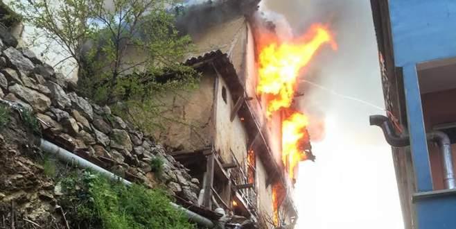 Köyde yangın seferberliği