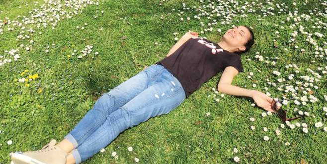 Burcu'ya bahar geldi