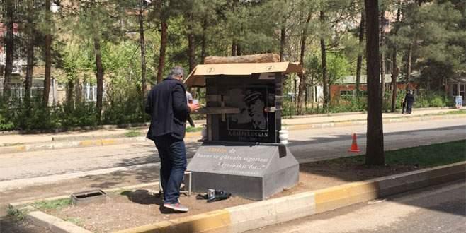 Gaffar Okkan'ın şehit edildiği yere anıt dikildi