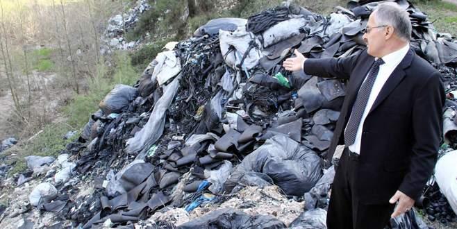 Bursa'da ormanda 50 ton sanayi atığı bulundu