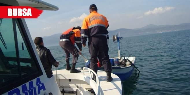 İznik Gölü'nün ortasında kabusu yaşadılar!