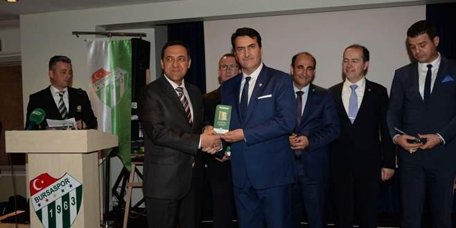 Bursaspor'dan Başkan Dündar'a teşekkür
