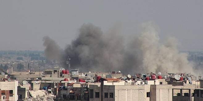 Esad yine varil bombasıyla saldırdı