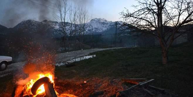 Kiraz 'duman'la korunuyor