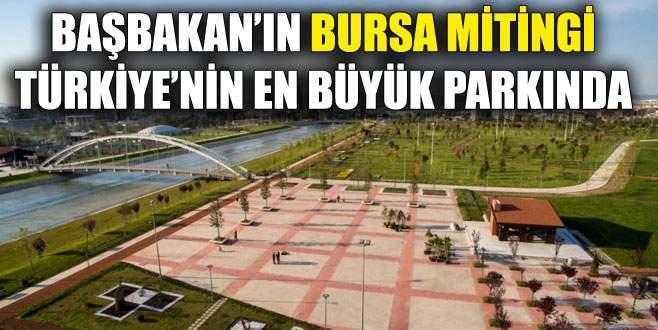 Başbakan'dan Bursa'da hem açılış hem miting
