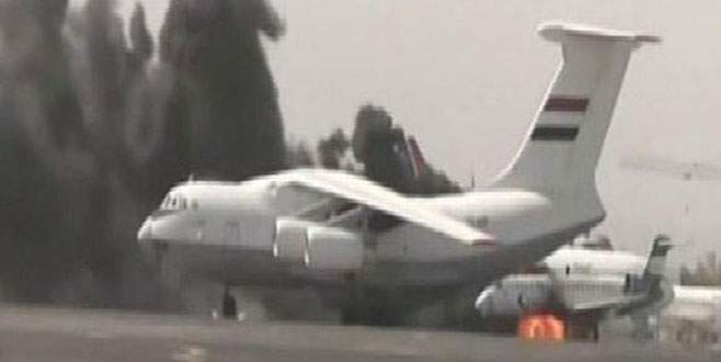 İran uçağı inmesin diye havaalanını bombaladılar
