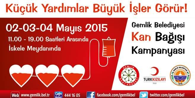 Gemlik Belediyesi'nden kan bağışı kampanyası