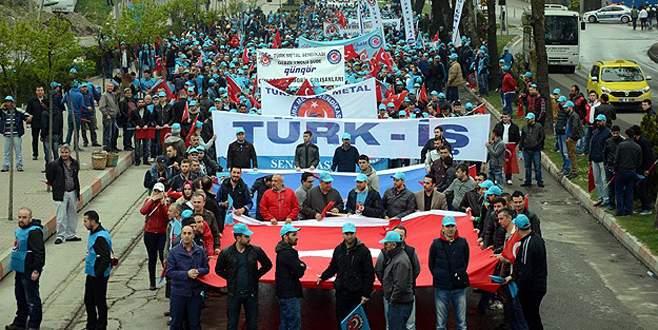 Türk-İş 1 Mayıs'ı Zonguldak'ta kutluyor