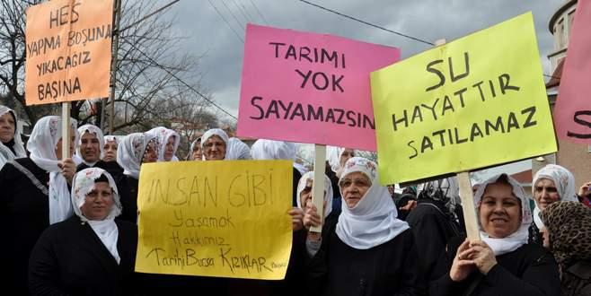 Bursa'da köylü kadınların 'HES' zaferi