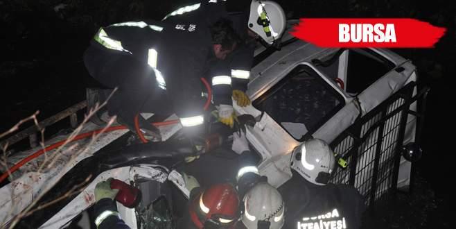 Off-road aracı dereye uçtu: 2 ölü, 1 yaralı