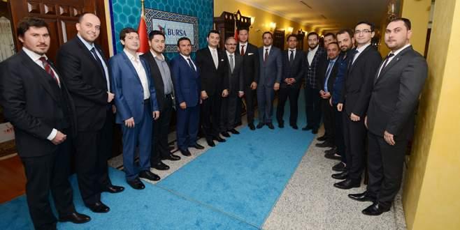 Bursalı girişimcilerden Vali Karaloğlu'na ziyaret