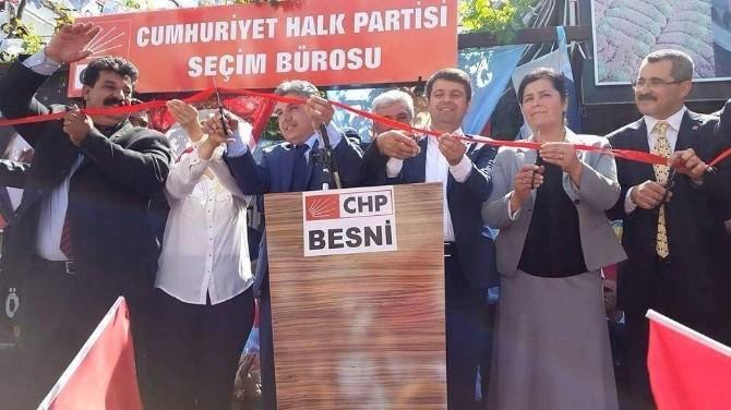 CHP, Besni İlçesinde Seçim İrtibat Bürosunu Açtı