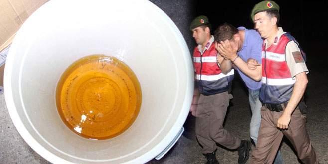 Çöp kovasında 3 bin 900 litre sahte içki yapmışlar