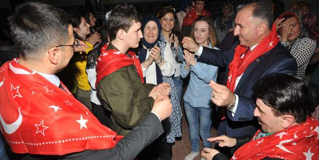Bursa'da engelli asker adayları doyasıya eğlendi