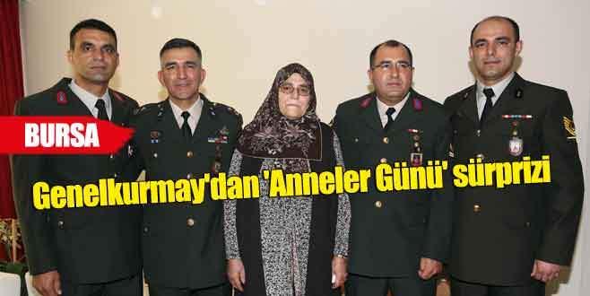Bursalı anne 4 asker oğlu ile buluştu
